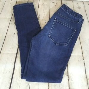 Gap 1969 high rise skinny dark wash jeans